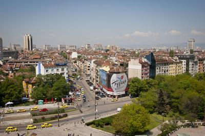 Skyline di Sofia in Bulgaria