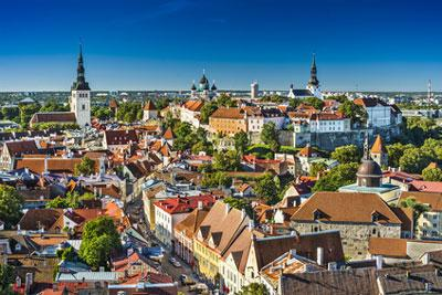 Skyline Tallin in Estonia