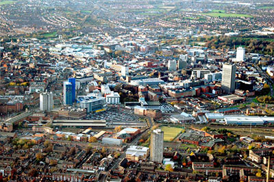 leicester panorama città